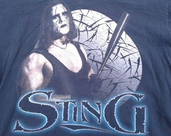 Vintage 90's 1998 Sting WCW NWO Wrestling t-shirt Made by Tultex large