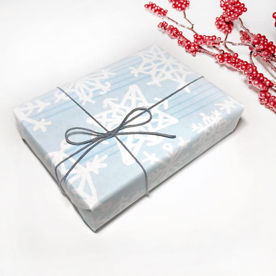 """Snowflakes"" Gift Wrap/Wrapping Paper - Matte Finish! - 6 Ft. Roll (30"" wide)"