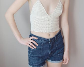 Crochet Crop Top Crochet Bralette Ethical Fashion Fair Trade Clothing Sustainable Fashion Festival Crochet Top Eco Friendly Fashion Vegan