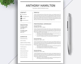 Professional Resume Template | 5 Pages Resume | Cover Letter | CV Template  Word | Modern  Pages Resume Template