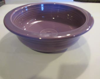 """Lilac Fiesta Serving / Vegetable Bowl 8 1/4"""" Large Discontinued HLC"""