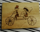 Wooden postcard with personal image
