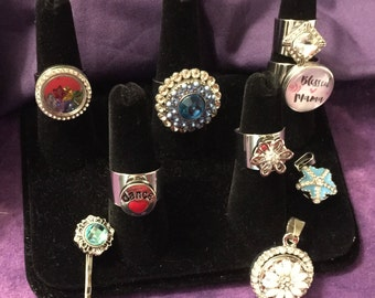 Take a Look and Find Your Favorite Piece!  Both 12mm and 18mm interchangeable Snap Jewelry