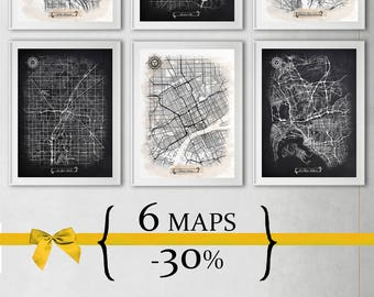 6 maps with 30% Discount {Special Discount Offer} Just select size and style!