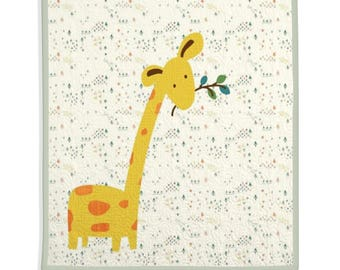 Baby Quilt, Nursery Quilt, Nursery Decor, Animal Quilt, Zoo Decor, Safari Quilt - Goofy Giraffe Quilt