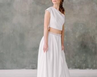 Wedding skirt etsy wedding skirt chiffon skirt bridal separates two piece wedding dress wedding separates junglespirit Images