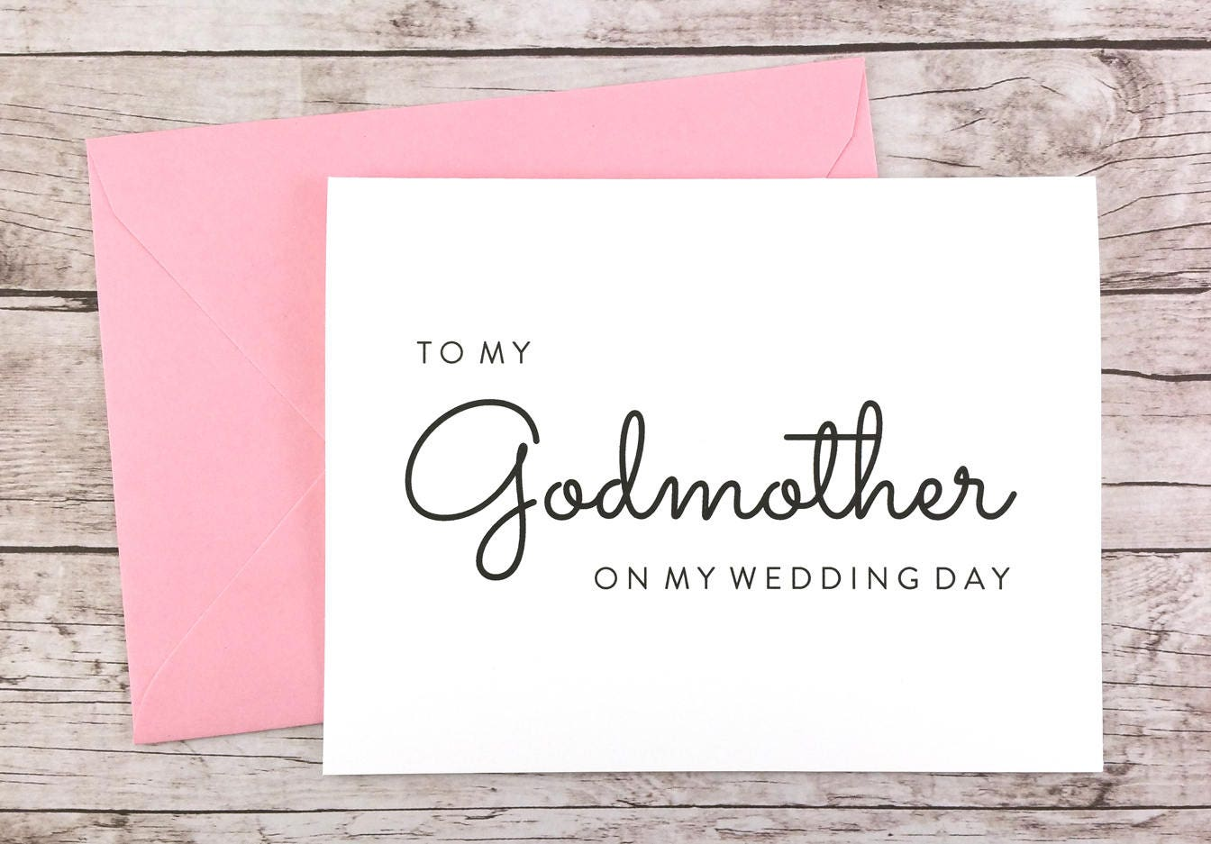 To My Godmother On My Wedding Day Card (FPS0016