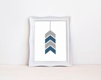 "Chevron Arrows Nursery Print || 8""x10"" DIGITAL DOWNLOAD 