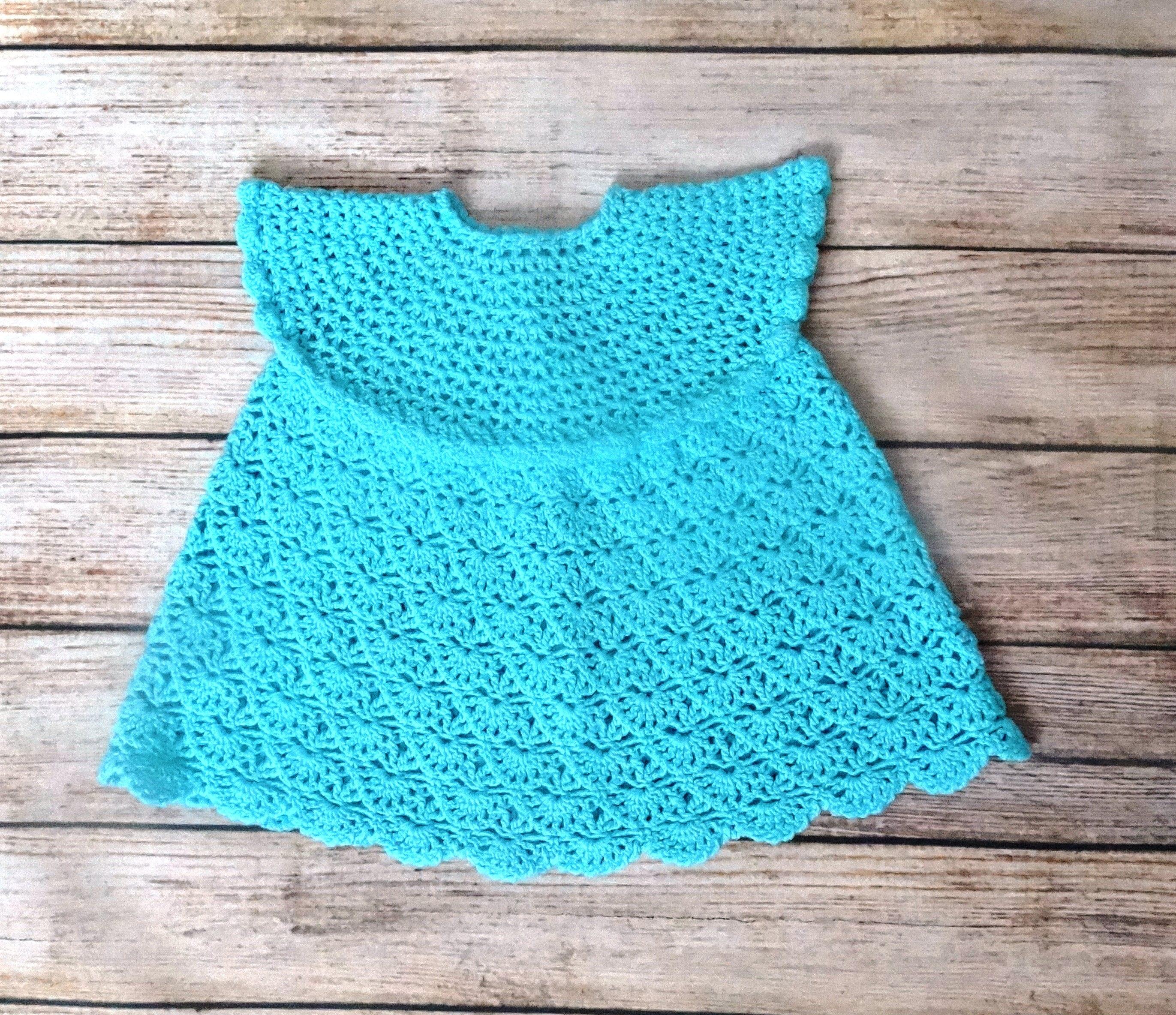 Mint crochet baby girl dress Light blue lace newsborn dress Lace ...