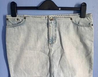 Vintage Versace Jeans Couture Jean Mini Skirt