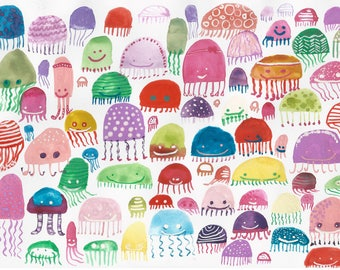 Colorful Jellyfish Print