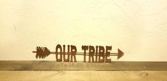 Our Tribe Sign Arrow Wall Decor Arrow Wall Art Split Arrow