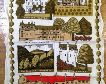 Vintage Linen Tea Towel designed by Pat Albeck for The National Trust