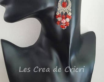 "Earrings ""Red"" ~ ""Unique"""