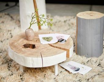 Matte grey trunk stool