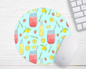 Cute Mouse Pad, Lemon Mouse Pad, Gift for Coworker, Desk Accessories, Office Desk Accessories, Stocking Stuffer, Cubicle Ideas, Mouse Pad