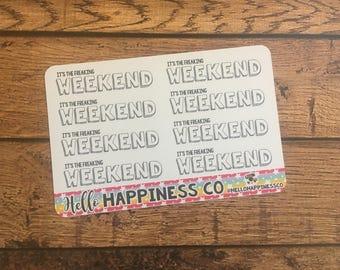 Weekend Stickers - Weekly Kit  - Functional Stickers - Erin Condren Planner Stickers
