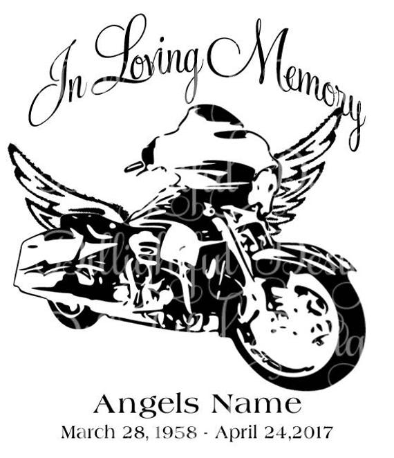 In Loving Memory Car Decals >> In Loving Memory Motorcycle Loss SVG Sticker Decal Car Decal