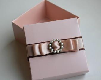 Pink Christmas Gift Box, Gift Box, Wedding Gift Box, Small Gift Box,  Engagement Gift Box, Birthday Box, Unique Gift Box