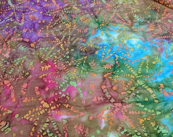 Multi-color Batik Cotton Fabric