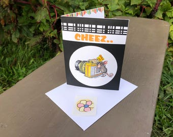 Happy Birthday Card, Photographer, Photography, House Mouse Designs, Lighhearted Birthday Card, Humorous Birthday Card,Dawns BlanchCards