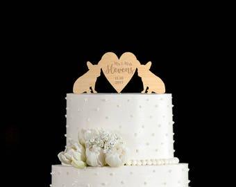 French Bulldog Wedding Cake TopperFrench Topperfrench