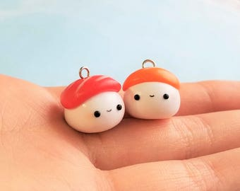 Sushi Charms Polymer Clay Necklace Pendant Miniature Food