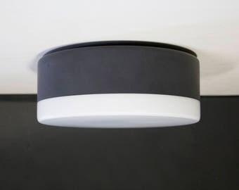 Vintage black and white glass ceiling, Planfondlamp, wall light minimalist, Modern