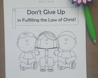 "6-12yo Circuit Assembly JW Notebook for ""Don't Give Up in Fulfilling the Law of Christ"" with Branch Representative"