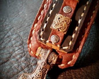 Viking Journey Cuff with Mjolnir Closure Vikings Beads