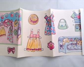 Paper Doll Peel and Stick Wall Art Decals Paper Crafts