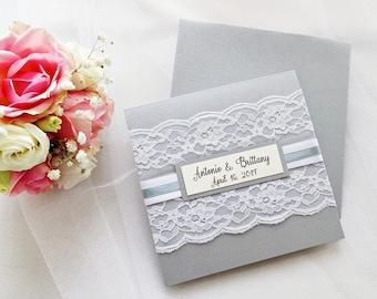 Lace wedding invitations | Etsy