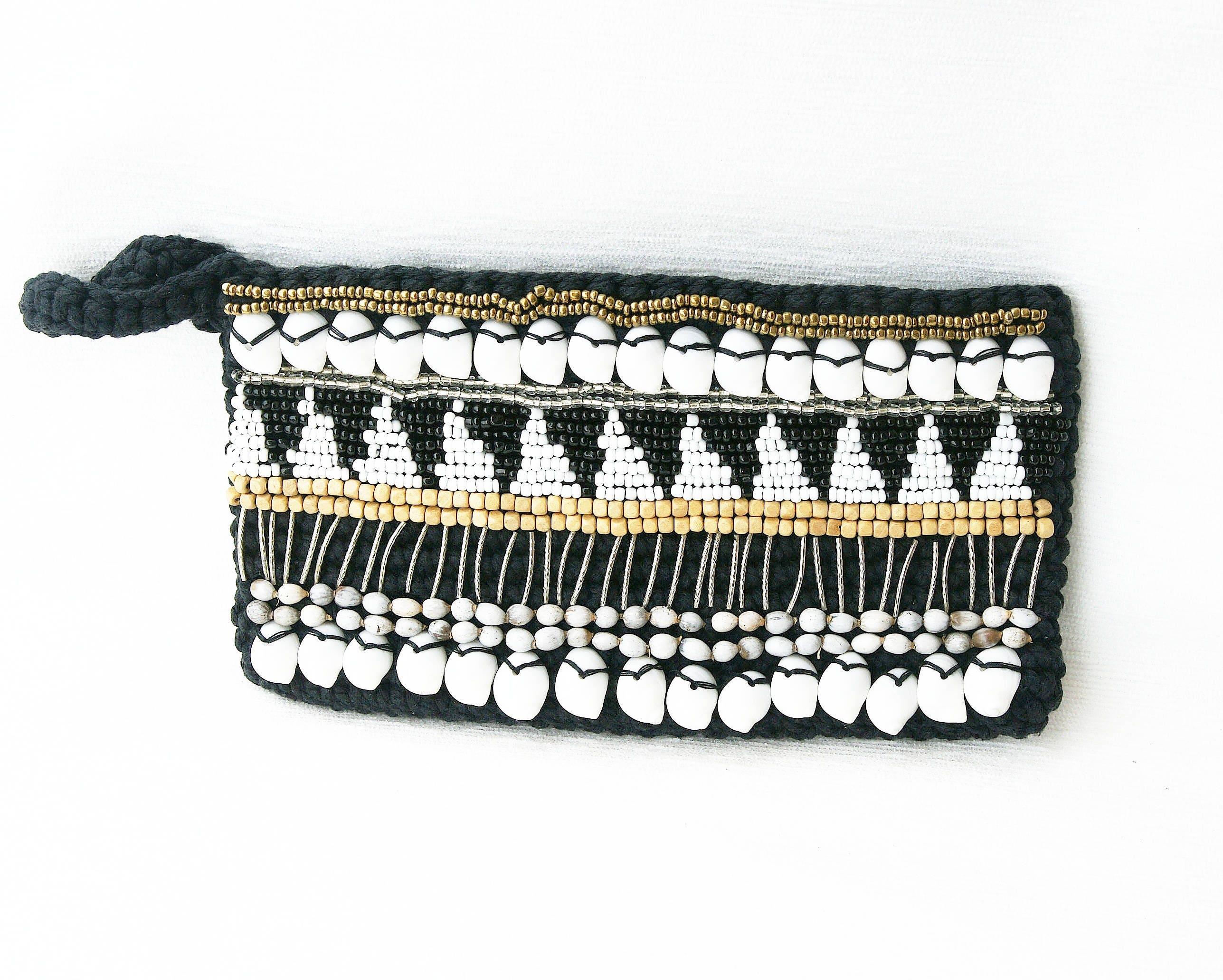 Cartera Boho algodón Crochet macramé bolsa accesorio
