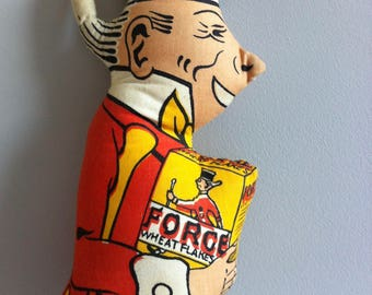 Vintage rag doll, Sunny Jim, Force Wheat flakes.