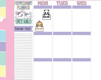 Zoo Day Planner Stickers --- #308