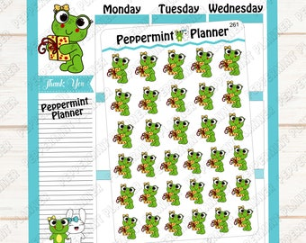 Lilly Pad Birthday Time --- Hand Drawn --- Planner Stickers --- 261