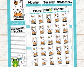 Flossy setting her her TN --- Planner Stickers --- 485