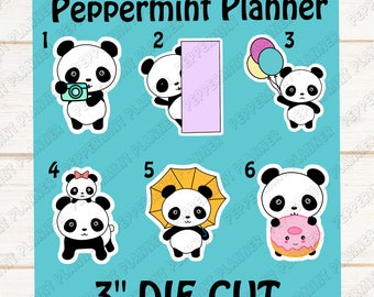 Sweet Little Panda Die Cuts --- DC07
