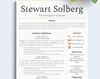 clean resume resume template for word resume template modern resume resume - Simple Resume Cover Letter