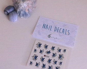 Butterfly Nail Decals Festival Wedding Bridal Bride Water Transfer Tattoo B254