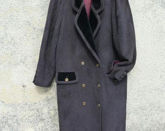 MANSFEILD cashmere wool coat size 44 fr 16 uk 12 us