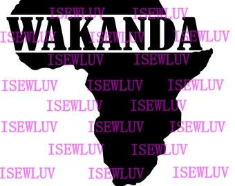 Wakanda Black Panther African SVG File