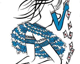 Alice In Wonderland, Alice Playing Cards