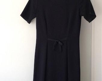 Vintage 1960s Italian Black Knit Mirsa Dress