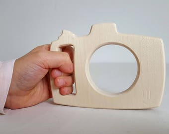 Camera, wooden teething ring - Mastro Jouets