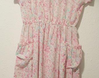 1990s Dorothy Perkins dress•vintage dress•summer dress•abstract dress•pink dress•UK 12/14•US 10/12