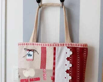 Canvas cloth and vintage fabric bag