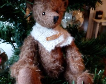 Bear collection or decoration in mohair, handmade
