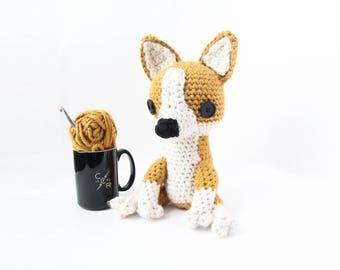 Crochet Corgi Stuffed Animal – stuffed animal toy, handmade to order