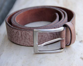 gift|for|Him men belt for men genuine leather belt Vintage leather accessories Fashion accessory mens leather belt brown belt Size XXL 44